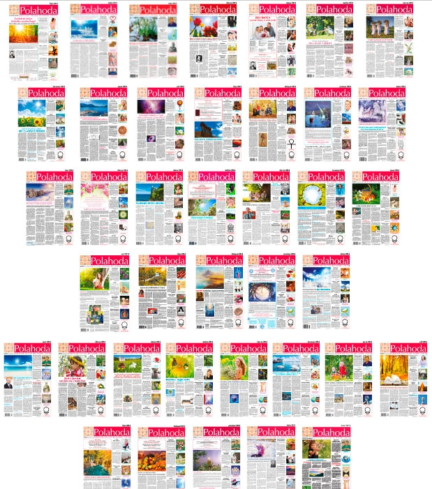 Pozitivní noviny Polahoda: zvláštní vydaní, 2012, 2013, 1-12/2014, 1-12/2015, 1-2/2016